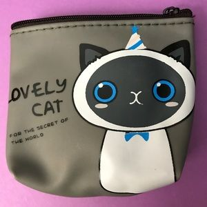 Party Cat Jelly Zipper Coin Purse Cosmetic Bag
